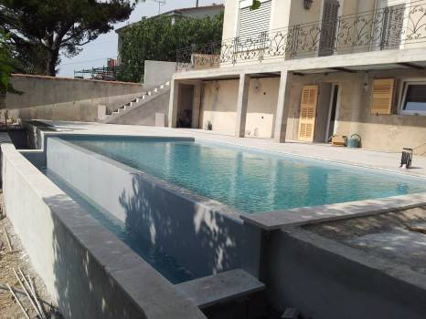 R novation piscine en dur et coque marseille psr for Plan de piscine a debordement